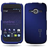 zte concord ii case - CoverON Hard Rubberized Slim Case for ZTE Concord II - with Cover Removal Pry Tool - Blue