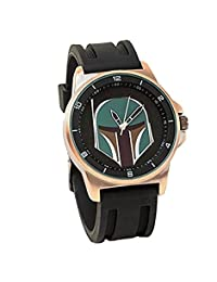 Official Star Wars Boba Fett Black and Copper Tonal Bracelet Wristwatch - Boxed