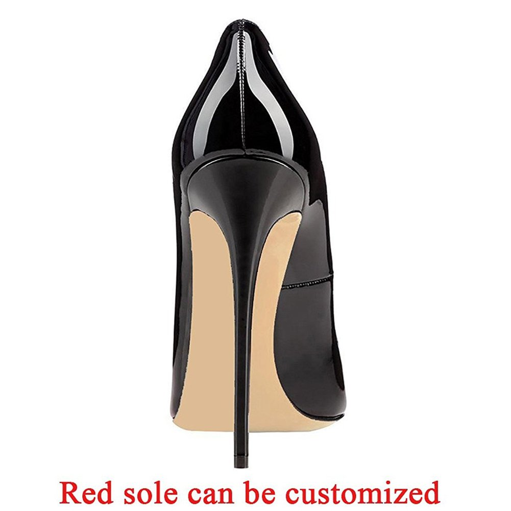 Comfity Pumps for Women, Sexy Pointed Shoes Toe High Heels Slip On Shoes Pointed Party Wedding Pumps B01AT460F0 10 M US|Black 6cc9d3