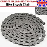 116 Links HG-73 9-Speed Mountain Road Bike Bicycle Chain For SHIMANO Deore LX 105 by ZJchao