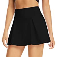 Toumett Women's Athletic Skirt Lightweight Pleated Skirts with Shorts and Pocket Running Tennis Golf Workout Sports