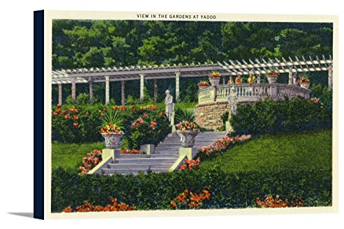 Saratoga Springs, New York - View of The Gardens at Yaddo (18x11 3/8 Gallery Wrapped Stretched Canvas) - Yaddo Gardens