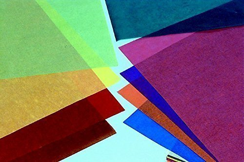 (Folia Large Transparent Paper, 19-3/4 X 27-1/2 in, 100 Sheets, Assorted Color, Pack of)