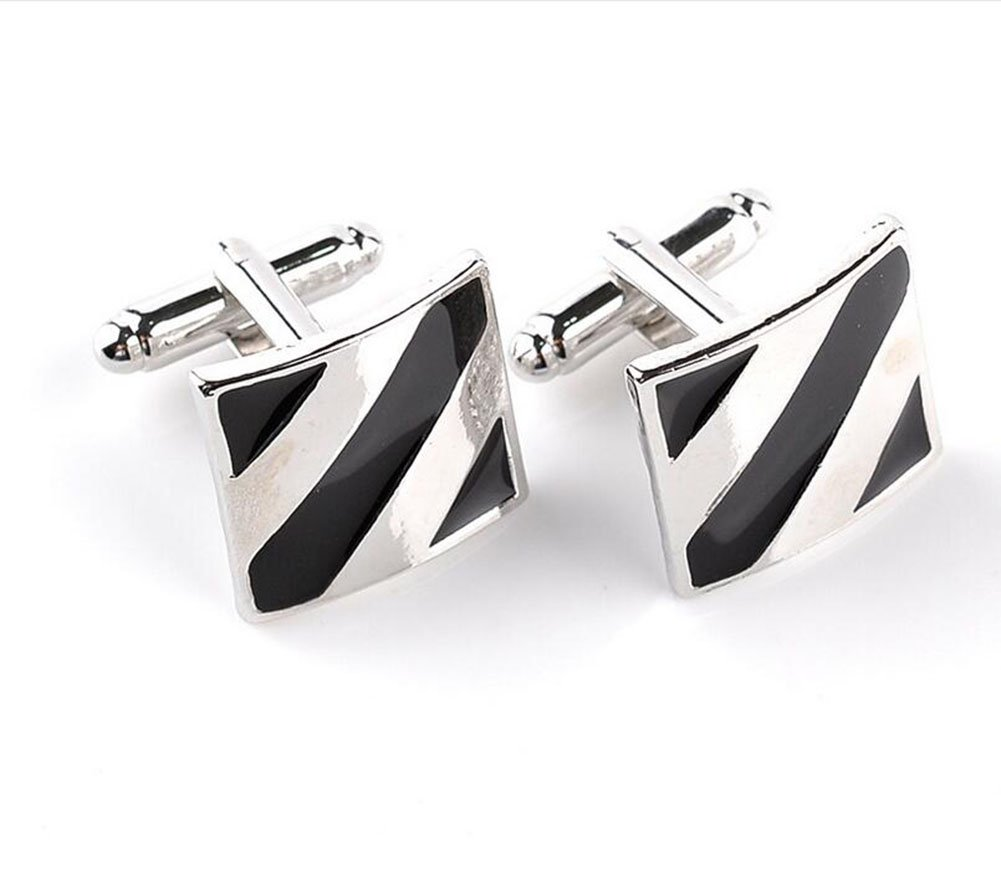 Ruikey Trendy Cufflinks Square French Shirt Cuff Links Formal Fashion Accessory Gift for Men