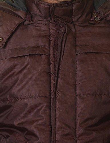 Garcia Jeans Men's Men's Burgundy Hooded Jacket In Size Xl Burgundy