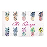 Chi Omega Pop Art Pineapple Sorority Flag Greek Letter Use as a Banner 3 x 5 Feet Sign Decor chi o