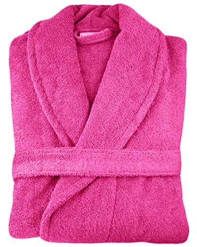 MENS LADIES UNISEX EGYPTIAN COTTON 500 GSM TERRY TOWELLING SHAWL COLLAR HOODED  BATHROBE From Jasmin Elinor 5c833d1c6