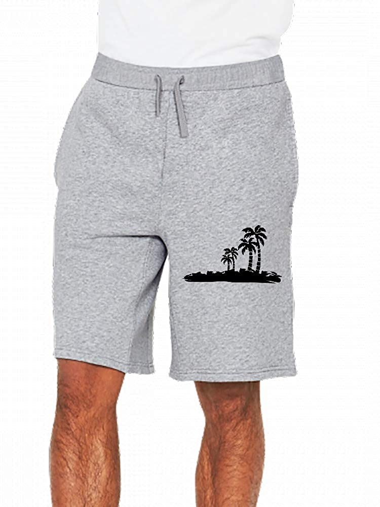 JiJingHeWang Darrpalmtrees02 Mens Casual Shorts Pants