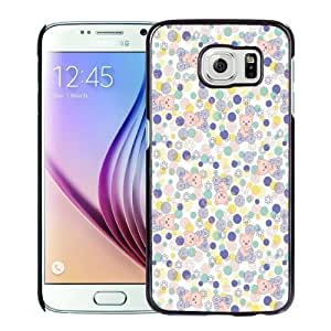 New Personalized Custom Designed For Samsung Galaxy S6 Phone Case For Clean Bear and Floral Pattern Phone Case Cover