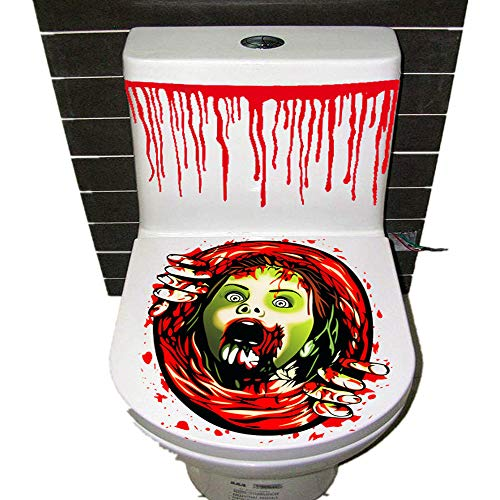 Halloween Decor Clearance KIKOY Thriller Theme Toilet Cover Party Decoration Sticker -