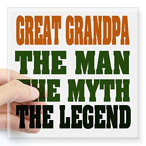 CafePress Great Grandpa The Legend Square Sticker 3
