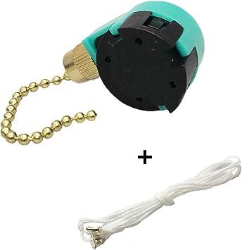 Ventilador de techo interruptor, cable de luz Tire Cadena Interruptor, 3 velocidad 4 alambre Tire de