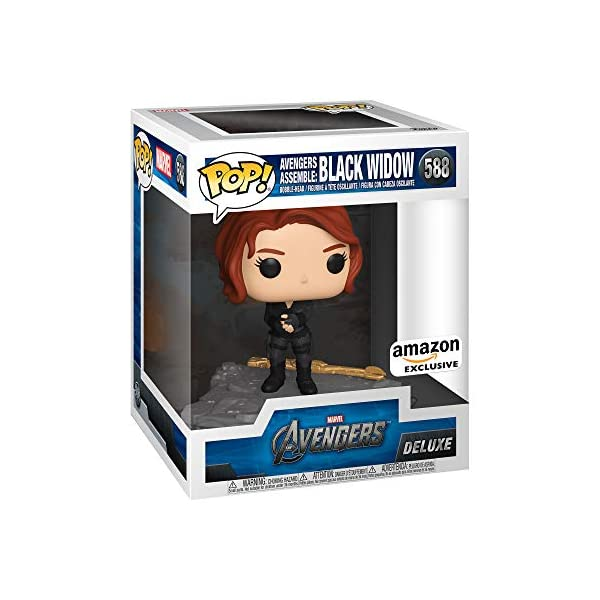 51ZqYu9Cb6L Funko Pop! Deluxe, Marvel: Avengers Assemble Series - Black Widow, Amazon Exclusive, Figure 5 of 6