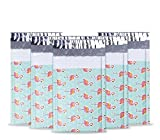 UCGOU #000 4x8 50pcs Flamingo Designer Poly Bubble Mailers Padded Envelopes Boutique Custom Bags