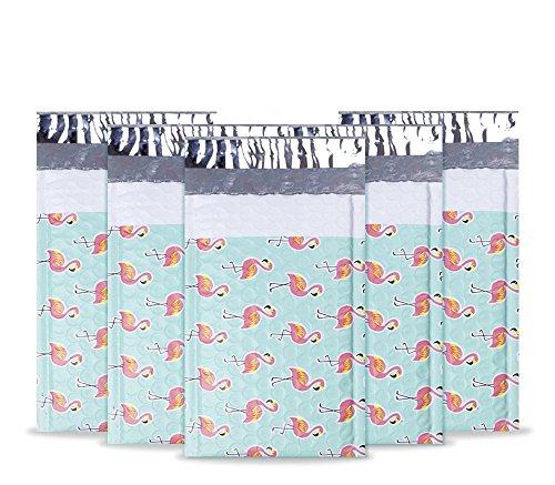 UCGOU #000 4x8 50pcs Flamingo Designer Poly Bubble Mailers Padded Envelopes Boutique Custom Bags by UCGOU