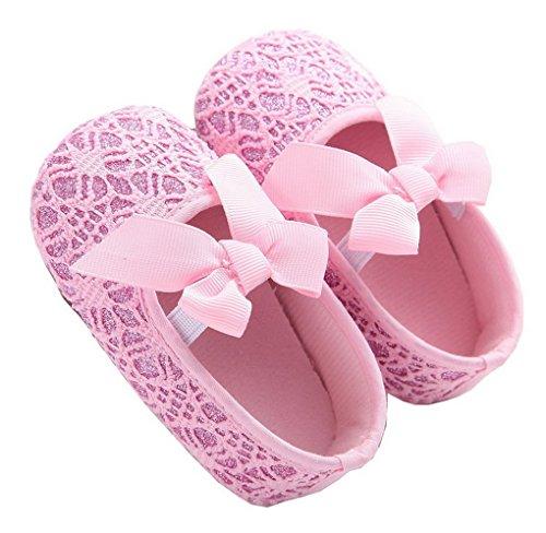 Baby Girl cómodo antideslizante Princess Toddler Zapatos rosa rosa Talla:12-18 meses rosa