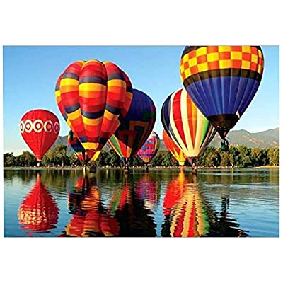 Jigsaw Puzzles for Adults 1000 Piece, Riverside Hot Air Balloon Puzzle Toy, DIY Collectibles, Standard 14-28 Days, DHL 5-10 Days: Toys & Games