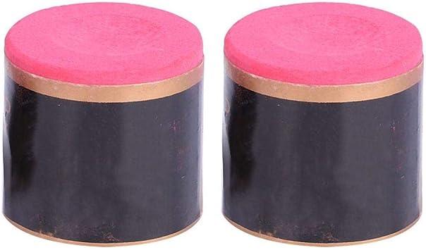 Tizas para Snooker 2 Piezas de Repuesto Antideslizante Puntas de Referencia Tiza de Billar Accesorio de Tiza para Taco de Billar (Rojo): Amazon.es: Deportes y aire libre