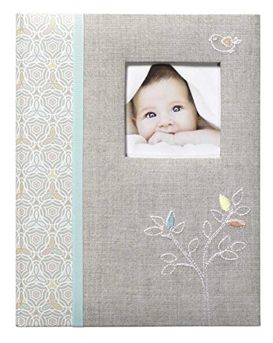 C.R. Gibson Grey 'Linen Tree' Loose Leaf First Five Years Memory Baby Book, 64pgs, 10'' W x 11.75'' H. from C.R. Gibson