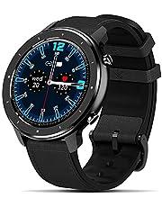 Fullmosa 【2021 Nuevo】 Reloj Inteligente, Smartwatch, FW-12 Full-Touch Fitness Tracker con Frecuencia Cardíaca Monitor SoP2, IP67, 1.3 Pulgadas Activity Tracker Andriod iOS para Hombres Mujeres
