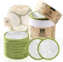Greenzla Reusable Makeup Remover Pads (20 Pack) With Washable Laundry Bag And Round Box for Storage | 100% Organic Bamboo...