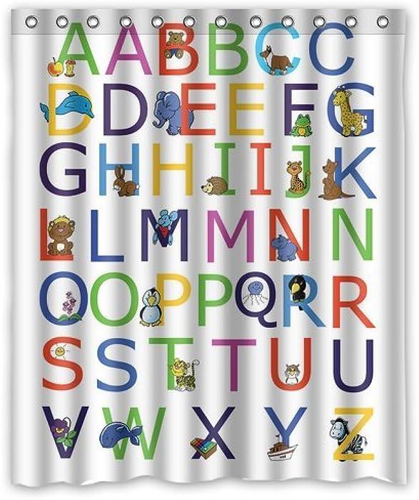 Amazon.com: Custom ABC Alphabet Waterproof Polyester Fabric 60\