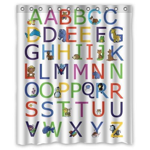 Marvelous Custom ABC Alphabet Waterproof Polyester Fabric 60u0026quot;(w) X 72u0026quot;(h