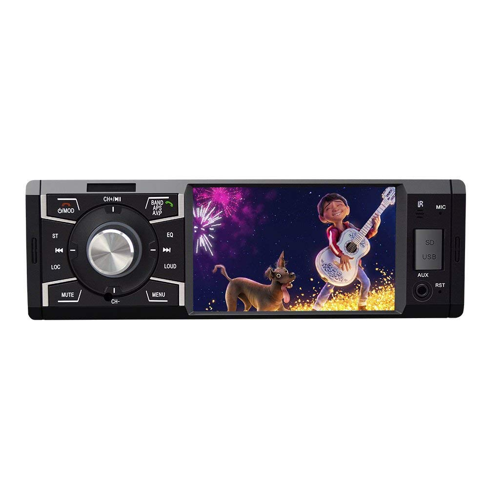Car Stereo with Bluetooth 4.1inch Single Din Radio for Car MP5 Player USB//SD//AUX//FM Receiver Wireless Remote Control