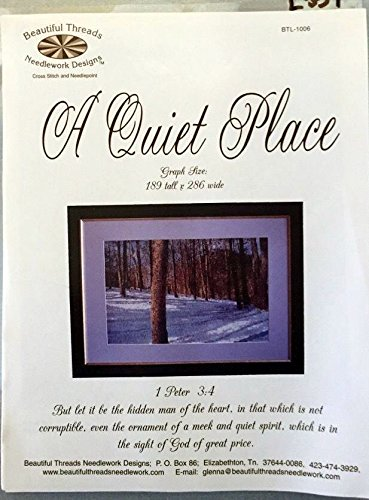 A QUIET PLACE Cross Stitch Pattern- Trees - Graph Size 189 Tall x 286 Wide Beautiful Threads