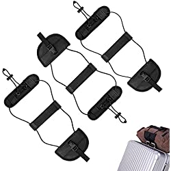 Bag Bungee,Luggage Bungee Strap Add a Bag, Z&L Adjustable Travel Suitcase Belt Travel Accessories (3pack-black)