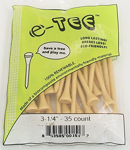 (Zero Friction e-Tee Natural Golf Tees 3¼