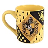 Silver Buffalo HP7432 Harry Potter Hufflepuff House Crest Ceramic Mug, 14-Ounces