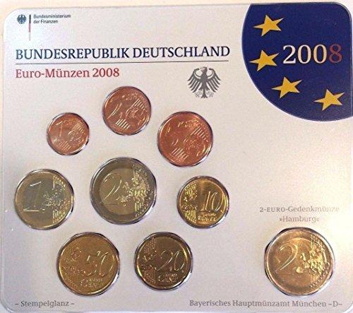 DE 2008 2008 D Germany Euro Official Coin Set Special Edi Good
