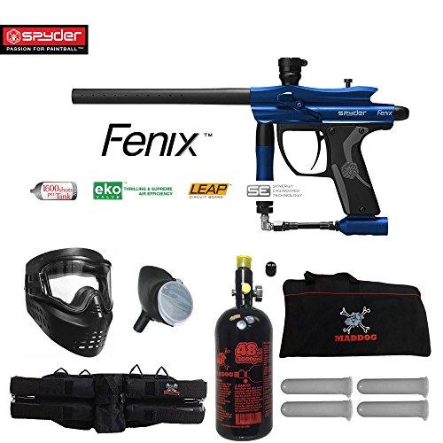 MAddog Spyder Fenix Beginner HPA Paintball Gun Package - - Sports 4+3 Harness Zephyr