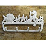 Rustic & Primitive Crafting Supplies was Manufactured to Look Antique Cast Iron Nautical Towel Coat Hooks Hat Hook Key Rack Seahorse, Starfish, Fish Inspiration for A Project