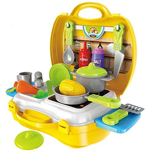 viel spiel 2 comp. kitchen set toy for girls kids-Multi color
