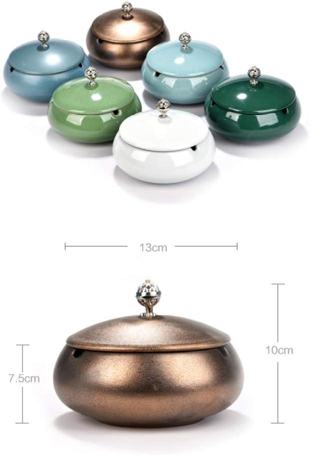 NoBrand Grand Cendrier Coupe-Vent avec Couvercle 1 PC KTV Chambre Salon Bureau Personnalit/é C/éramique Cendrier Tea Club