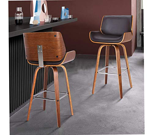 """Deluxe Premium Collection Tyler Barstool 30"""" Brown Decor Comfy Living Furniture"""