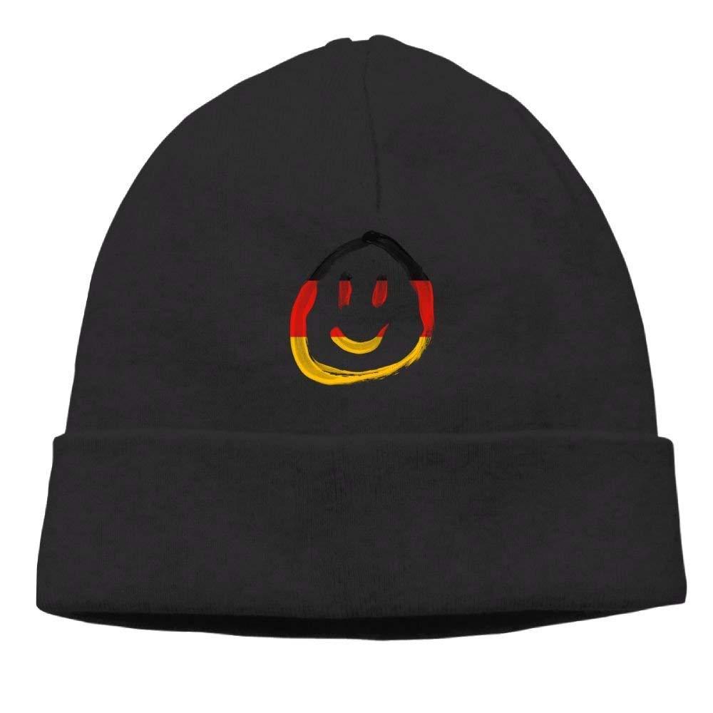 boy Unisex German Flag Smile Face Classic Fashion Daily Beanie Hat Skull Cap Go Ahead