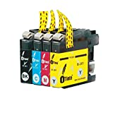 iTinte LC201 Compatible Ink Cartridges (1 Black,1 Cyan,1 Magenta,1 Yellow) for BROTHER MFC-J460DW,MFC-J480DW,MFC-J485DW,MFC-J680DW,MFC-J880DW,MFC-J885DW. 100% Money-Back Guarantee!