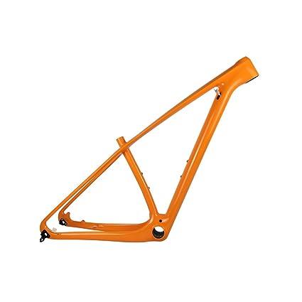 Amazon.com : SmileTeam T1000 Carbon Orange Mtb Frame 29er Mtb Carbon ...