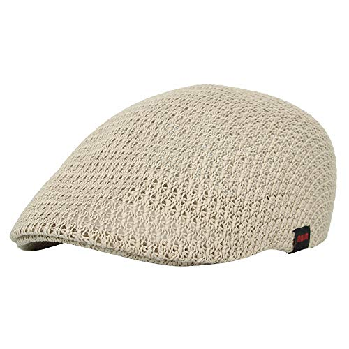 (WITHMOONS Summer Mesh Flat Ivy Gatsby Newsboy Driving Hat Cap AM31168 (Beige))