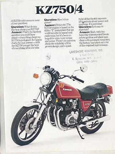 Motorcycle Sales Brochure (1980 1981 Kawasaki 750 KZ750/4 Motorcycle Brochure)