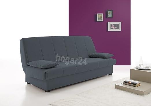 Sofa Cama Clic Clac con Arcón De Almacenaje, Color Azul.: Amazon ...