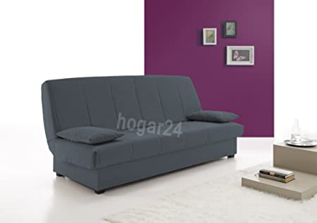 Sofa Cama Clic CLAC con ARCÓN DE ALMACENAJE Azul: Amazon.es ...