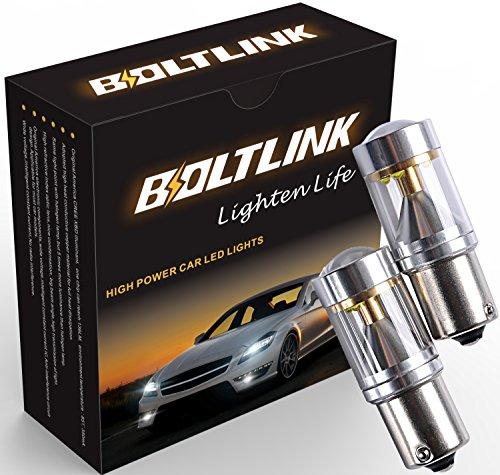 Boltlink 1157 7056 LED Brake Lights CREE 30w - Ultra Bright White 6000k 1200lumens LED Brake Lamp & Back up Light - All Bulbs Sizes LED Tail Lights - Pack of 2