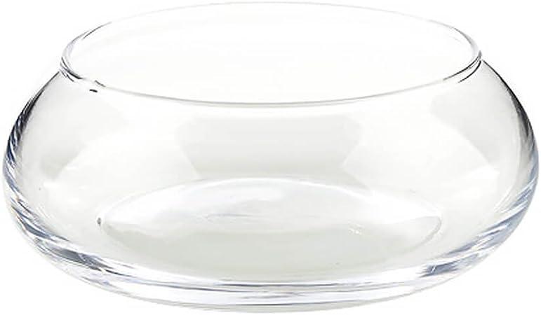 Glassco Mini jarrón de cristal redondo para decoración de mesa de ...