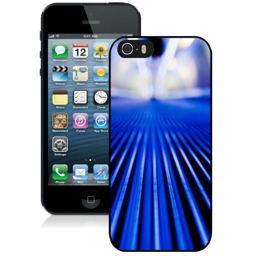 Coque,Fashion Coque iphone 5S Abstract Blue Stripes Noir Screen Cover Case Cover Fashion and Hot Sale Design