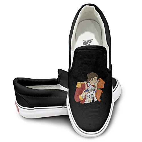 LOVVER94 Adult Liberty's Kids Kis Canvas Shoes Sneakers Slip On Shoes 35 Black