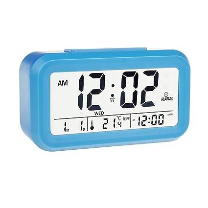ewtto Digital reloj despertador electrónico mañana reloj de ...